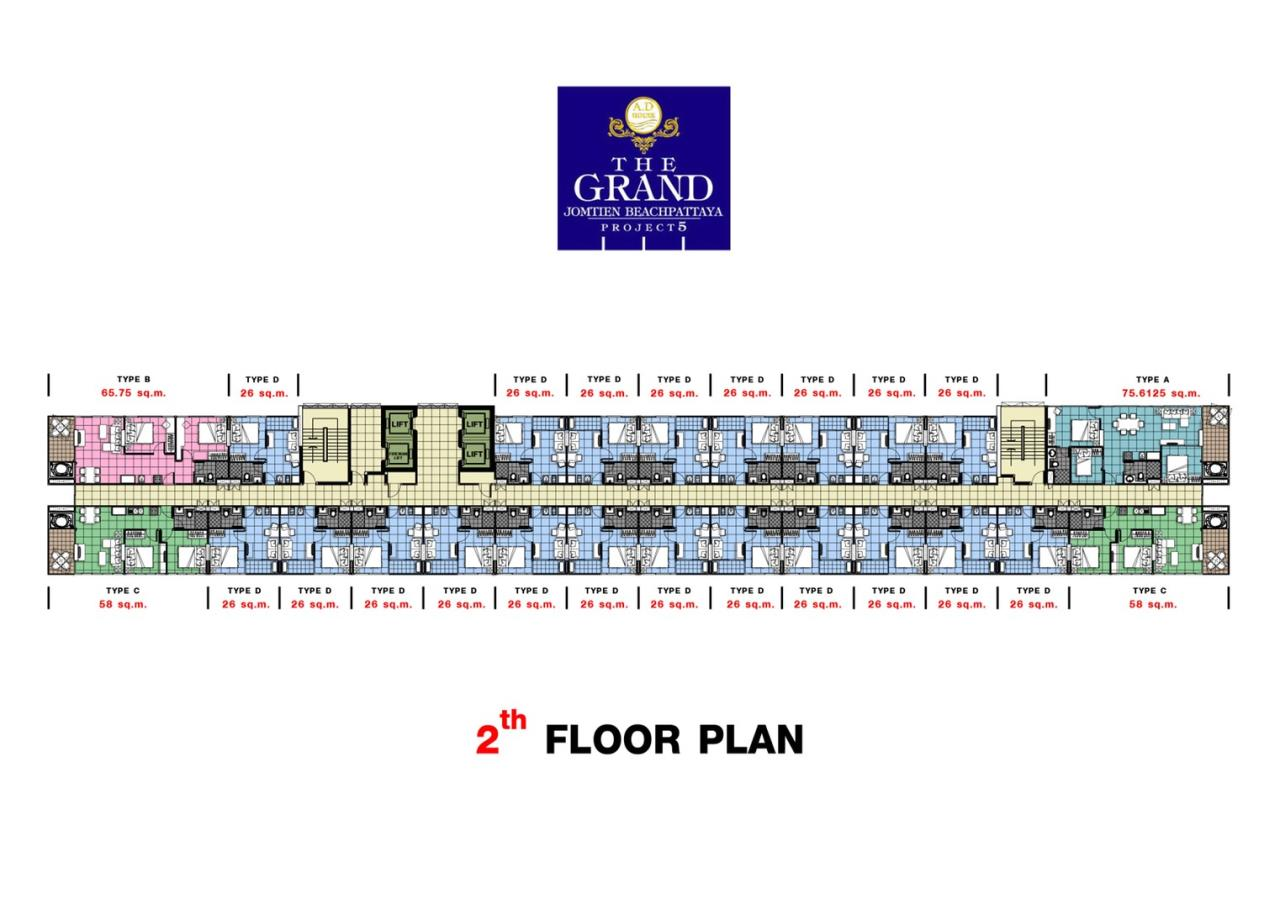 Signature Realty ( Thailand ) Co Ltd Agency's Fully Furnished Studio condo floor 2-10 at The Grand Jomtein Beach Pattaya 10