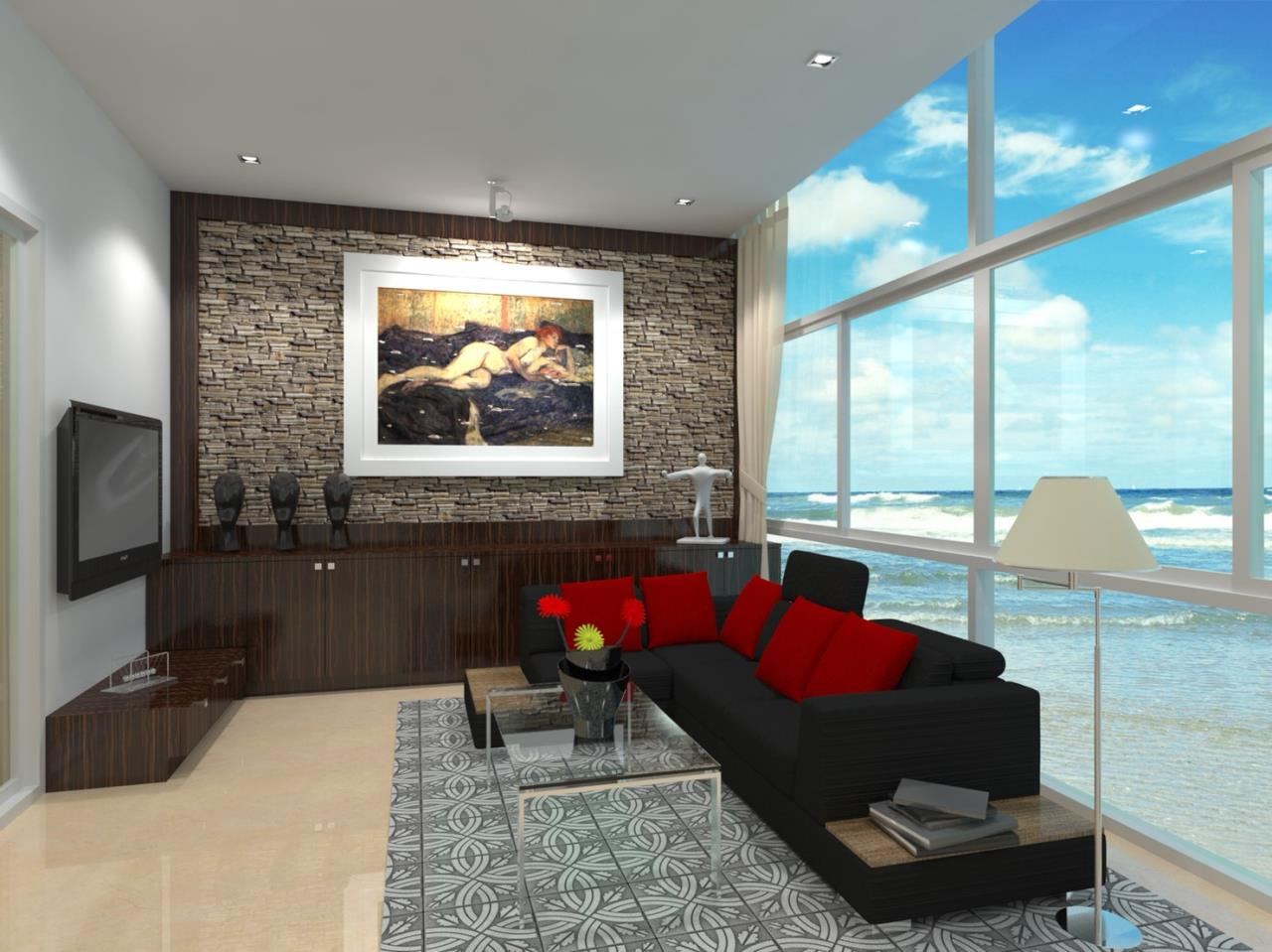 Signature Realty ( Thailand ) Co Ltd Agency's Furnished 1bedroom 46 sq.m condo with jacuzzi floor 21-31 at The Grand Jomtein Beach Pattaya 34