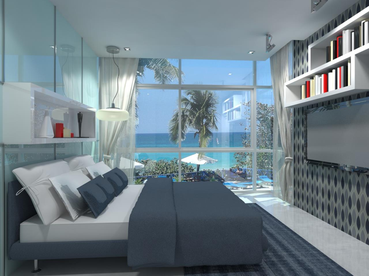 Signature Realty ( Thailand ) Co Ltd Agency's Furnished 2bedroom 65.75 sq.m condo with jacuzzi floor 2-11 at The Grand Jomtein Beach Pattaya 26