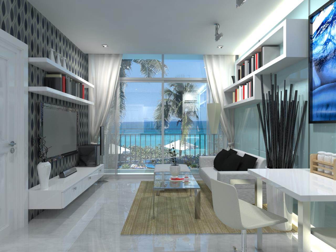 Signature Realty ( Thailand ) Co Ltd Agency's Furnished 2bedroom 65.75 sq.m condo with jacuzzi floor 2-11 at The Grand Jomtein Beach Pattaya 1