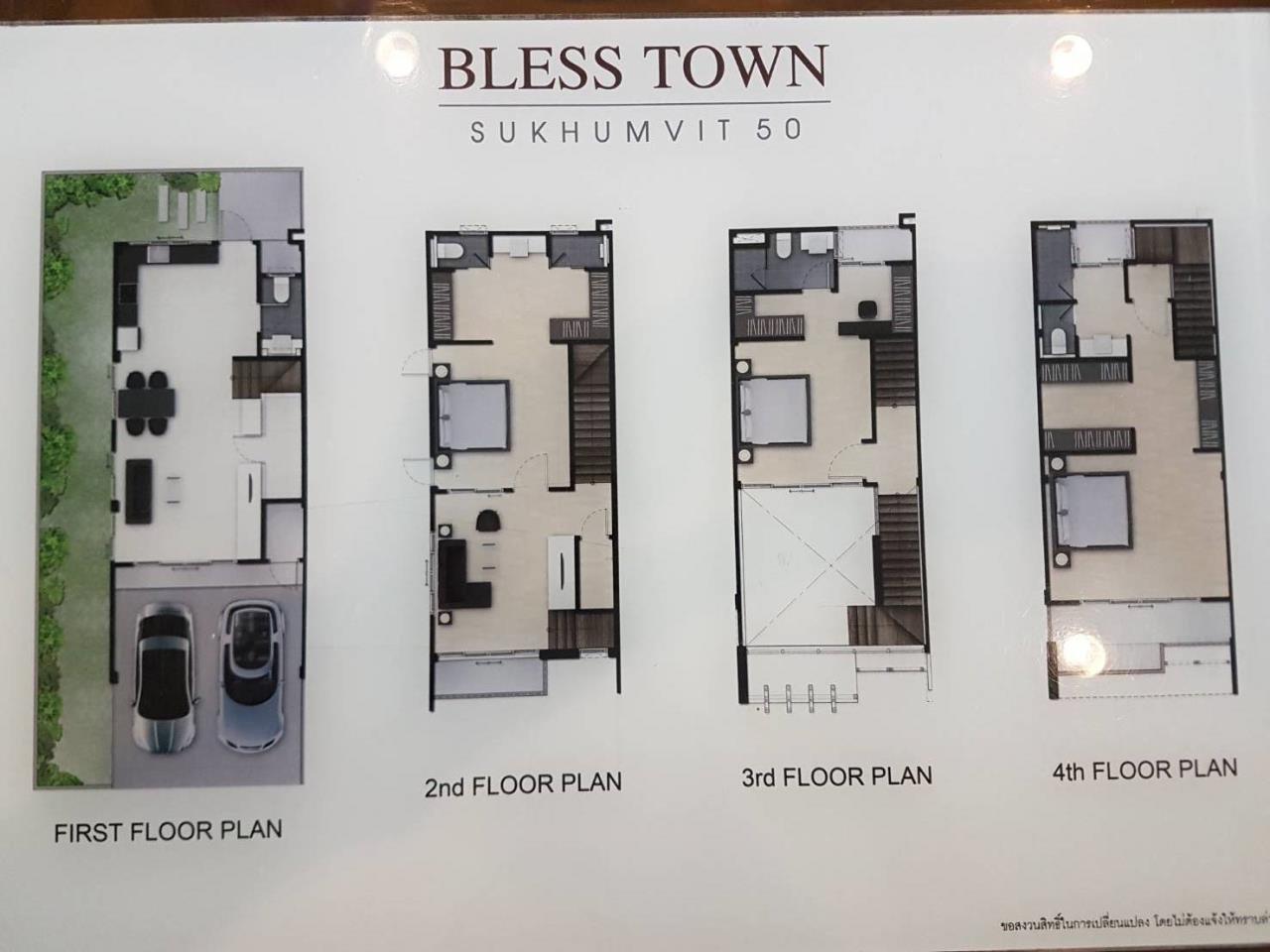 BKK BestLife Real Estate Agency's Bless Town 50 Townhome Sale On Nut 2