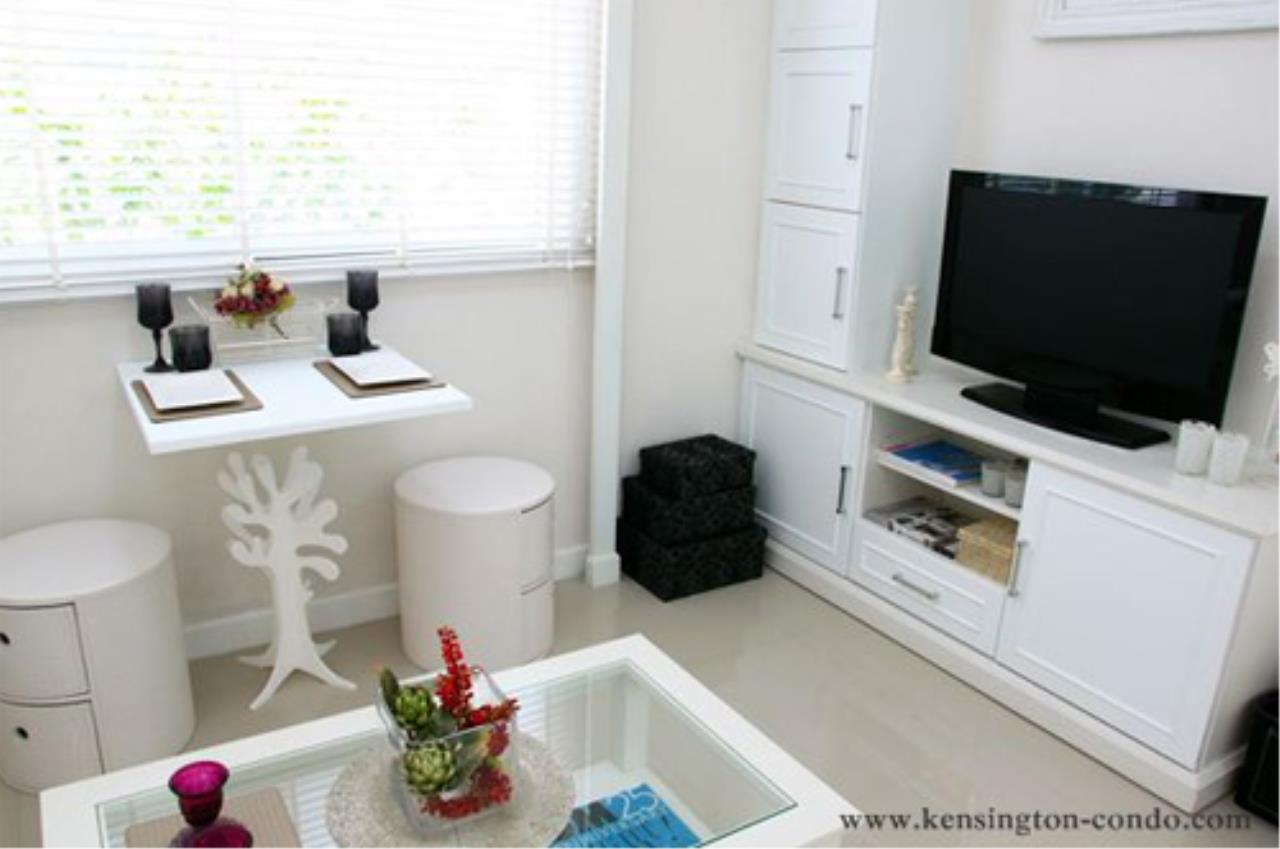 The Agent Real Estate Co., Ltd. Agency's For Sale Condo Kensington 12 Kensington Bearing Size 29.75 sqm. Floor 5, 1 bedroom, 1 bath, furnished foyer, near BTS Bearing only 1 km. Sukhumvit, Lasalle, Srinakarin, Bangna - Trad, Theparak with 2 air conditioners. 16