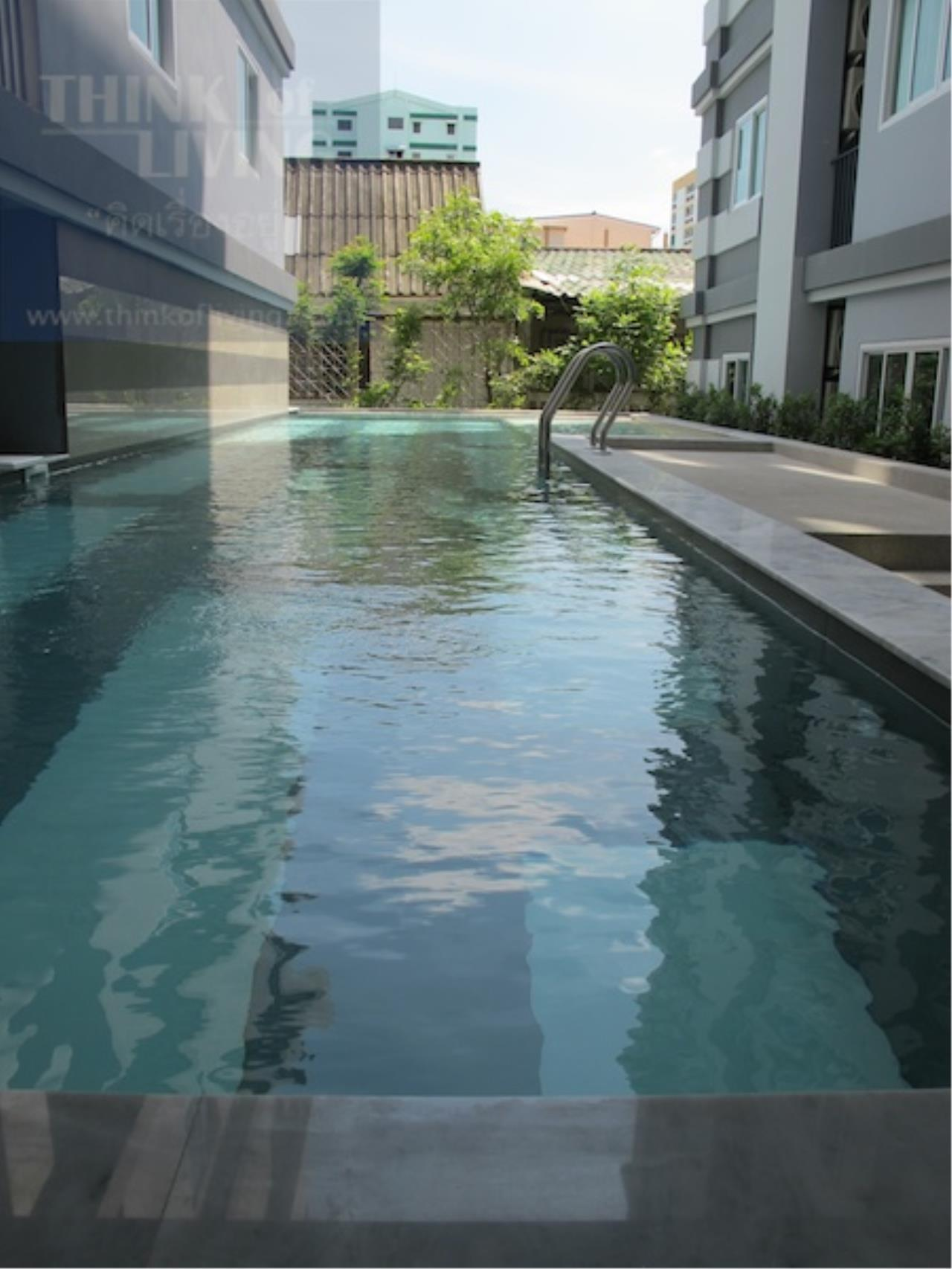 The Agent Real Estate Co., Ltd. Agency's For Sale Condo Kensington 12 Kensington Bearing Size 29.75 sqm. Floor 5, 1 bedroom, 1 bath, furnished foyer, near BTS Bearing only 1 km. Sukhumvit, Lasalle, Srinakarin, Bangna - Trad, Theparak with 2 air conditioners. 22