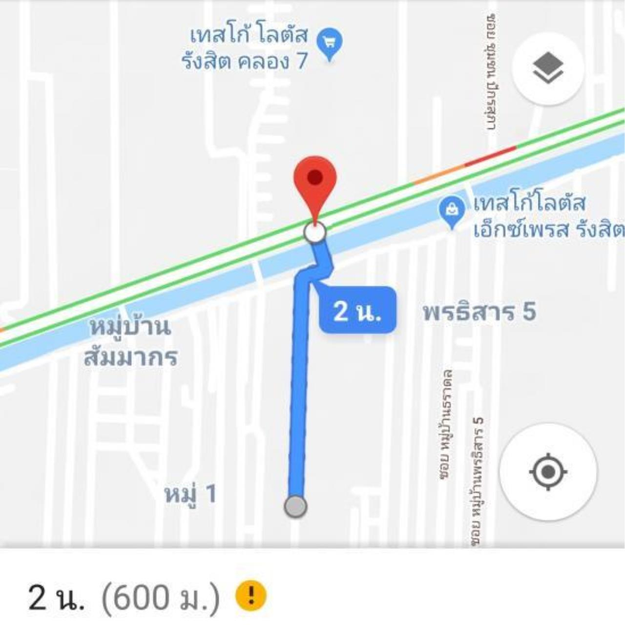 The Agent Property Agency's Land for sale in Canal 7, adjacent to Sarasas Vipi Rangsit, Lam Prakan, Pathum Thani, Rangsit-Nakhon Nayok area of 1 rai 2 ngan 6 sqw. Good location, community, market and factory. All apartments in the dorm. 12