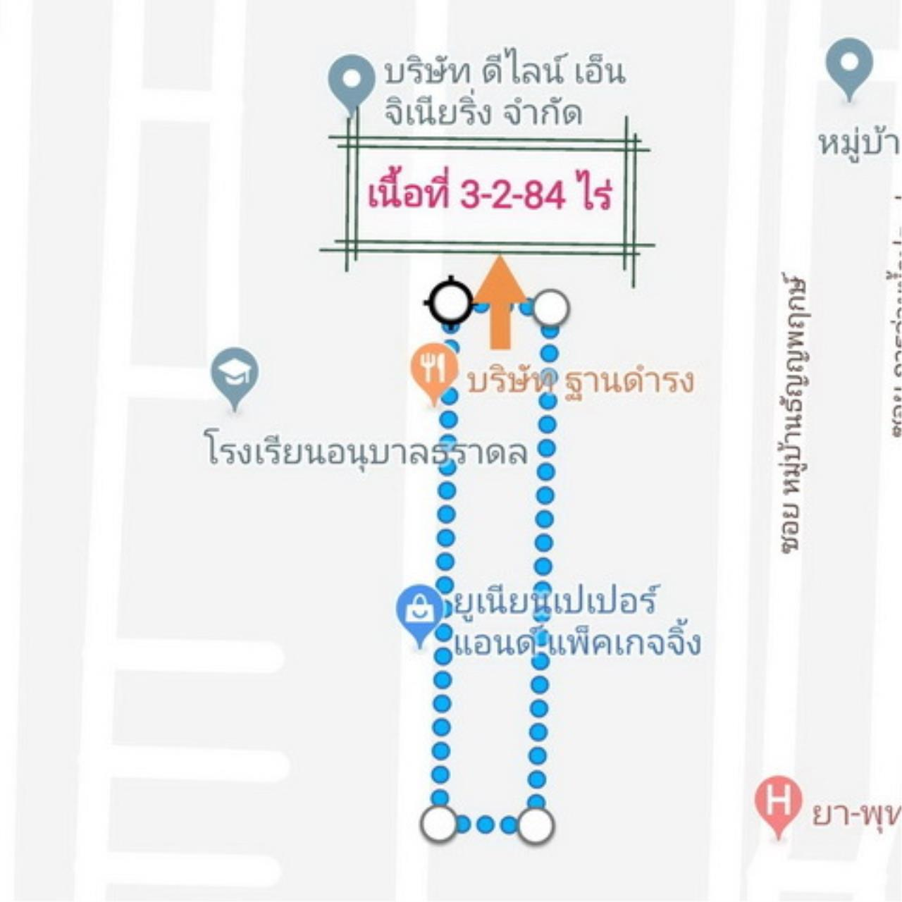 The Agent Property Agency's Klong 7 near Sarasas Vimai Rangsit, Lam Prakan, Pathum Thani, Rangsit-Nakhon Nayok area of 3 rai 2 ngan 84 sqw. Good location, community, market and factory. All apartments in the dorm. 2