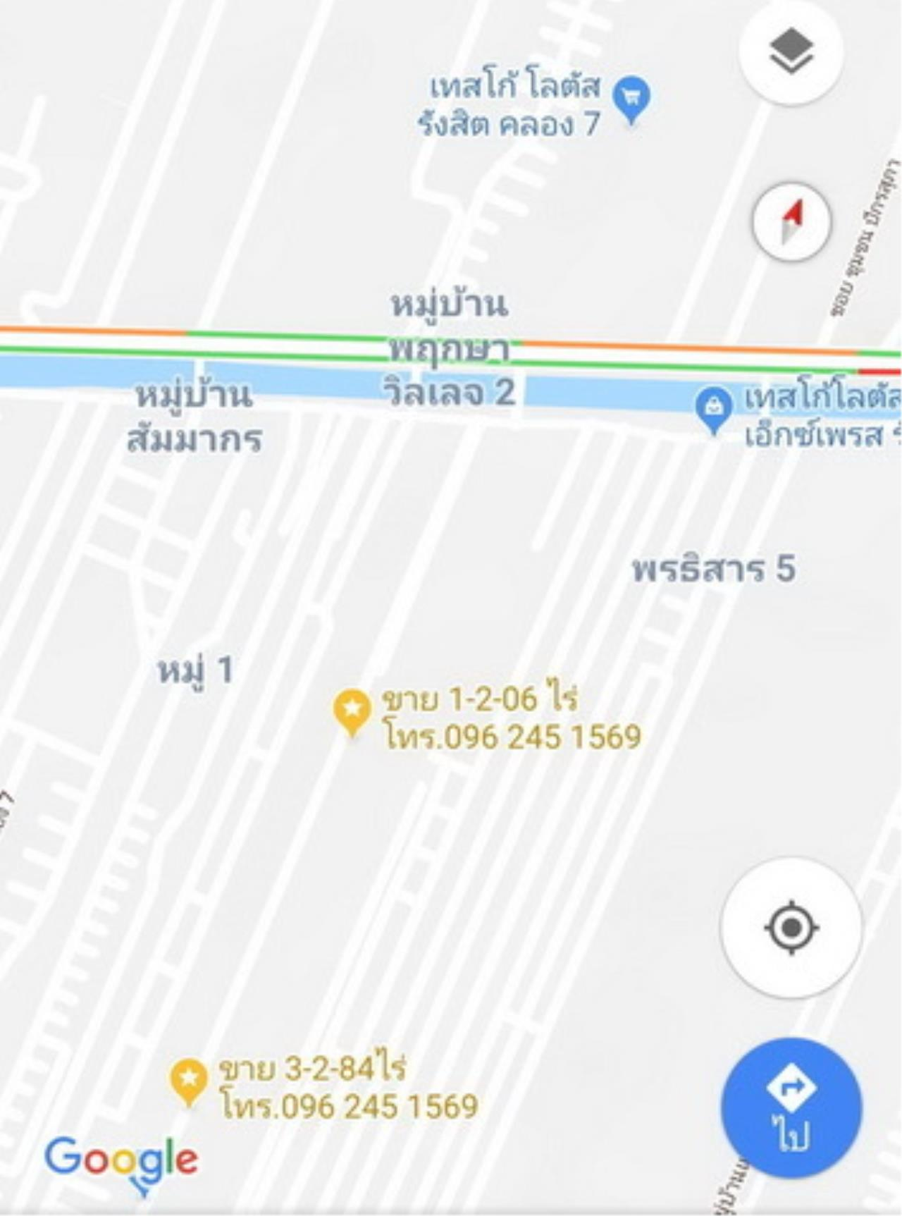The Agent Property Agency's Klong 7 near Sarasas Vimai Rangsit, Lam Prakan, Pathum Thani, Rangsit-Nakhon Nayok area of 3 rai 2 ngan 84 sqw. Good location, community, market and factory. All apartments in the dorm. 10