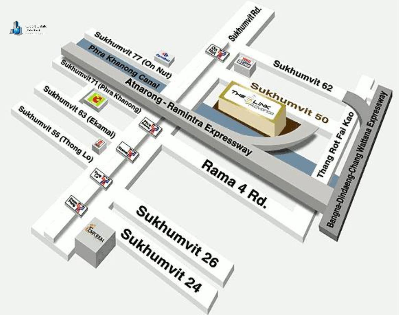 Global Estate Solutions Co., Ltd. Agency's The Link 3 Sukhumvit 50 5