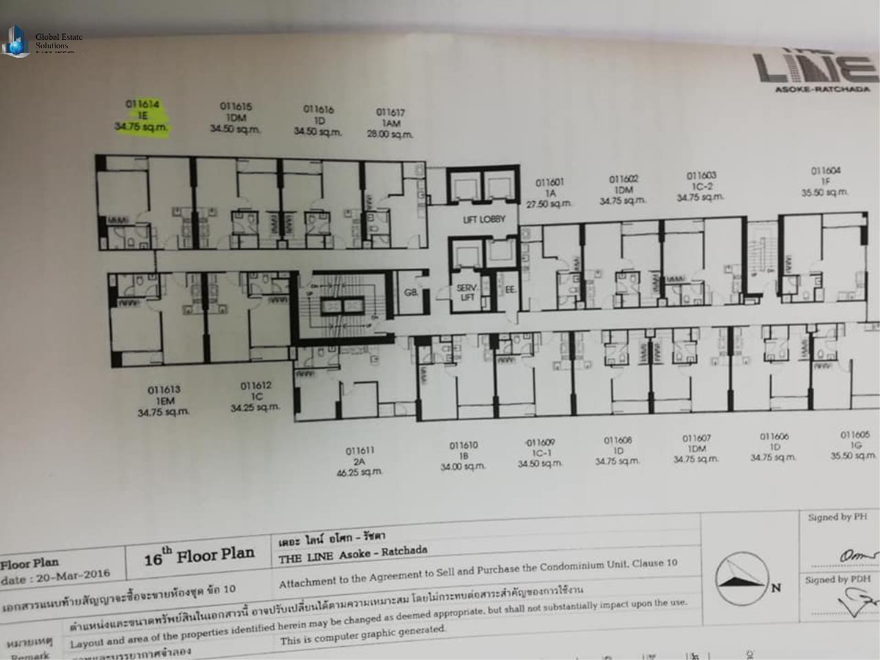 Bangkok Property Solutions Co., Ltd. Agency's The Line Asoke - Ratchada 7