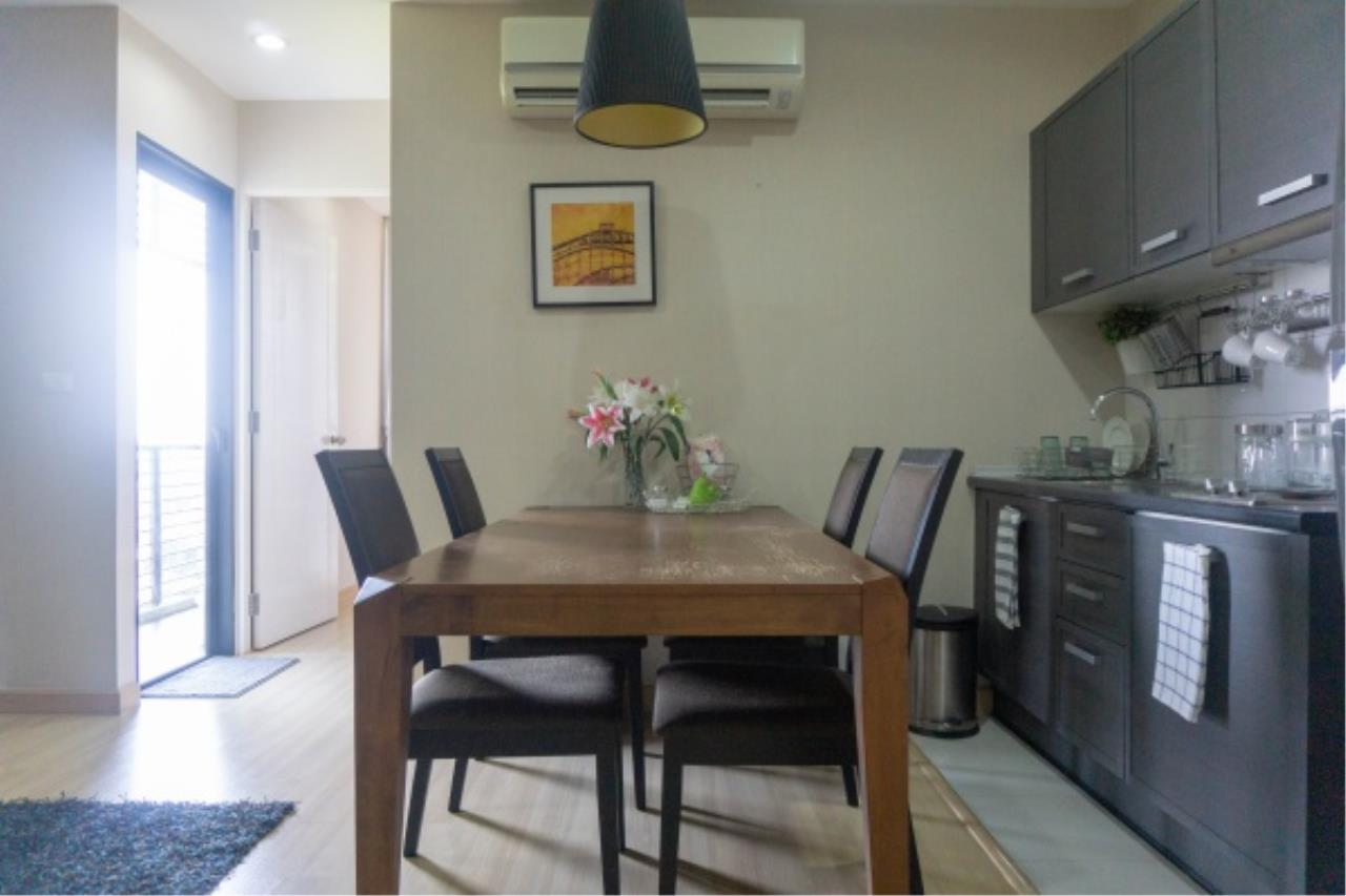 Agent - Aditep Pramorntat Agency's Condo For Sale: Apple Condo Sukhumvit 107,  1 bedroom, 54 sqm. only 51, xxx baht / sq.m., 5 min to BTS: Bearing Station Corner Unit, Fully Furnished 3