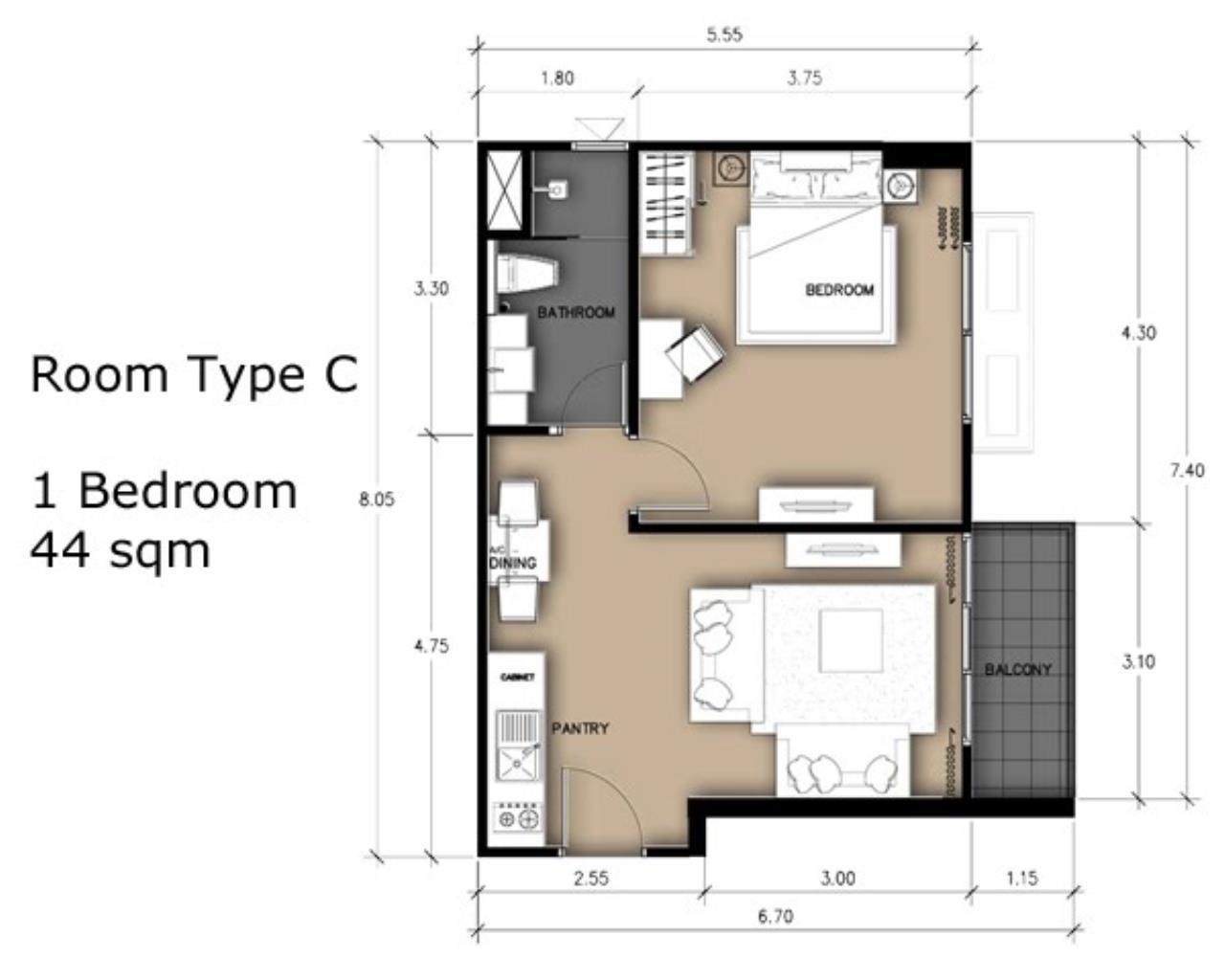 Real Estate in Pattaya Agency's 1 Bed Room - Laguna Beach Resort 2