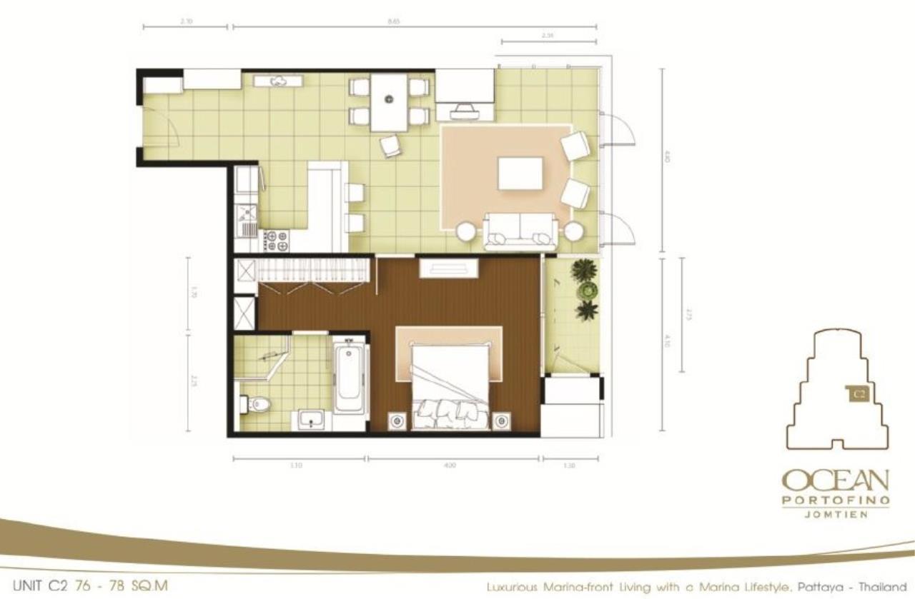 Real Estate in Pattaya Agency's 1 Bed Room - Ocean Portofino 6