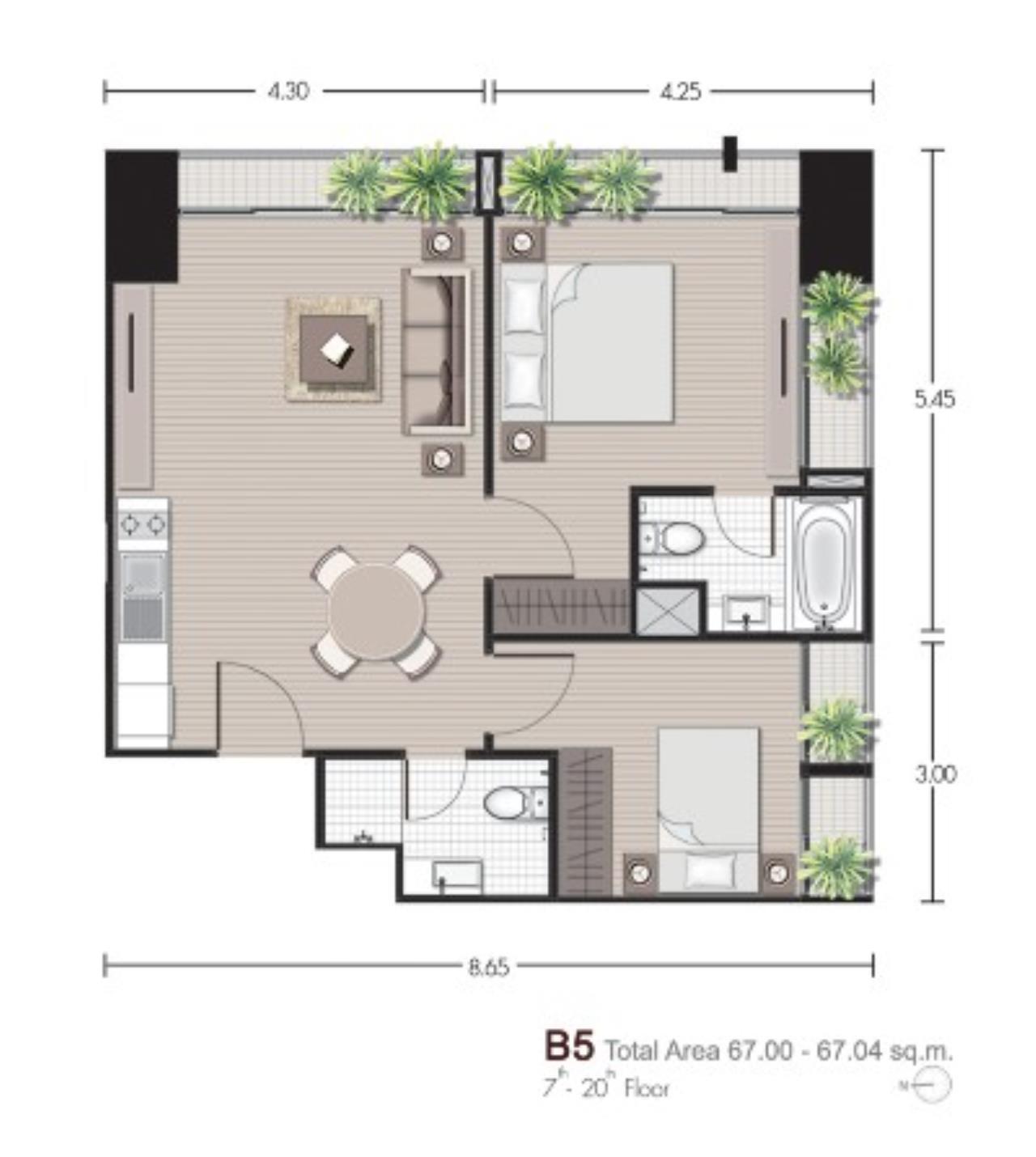 Shambhala Realty Agency's Noble Reveal Condominium for Rent in phrom pong 11