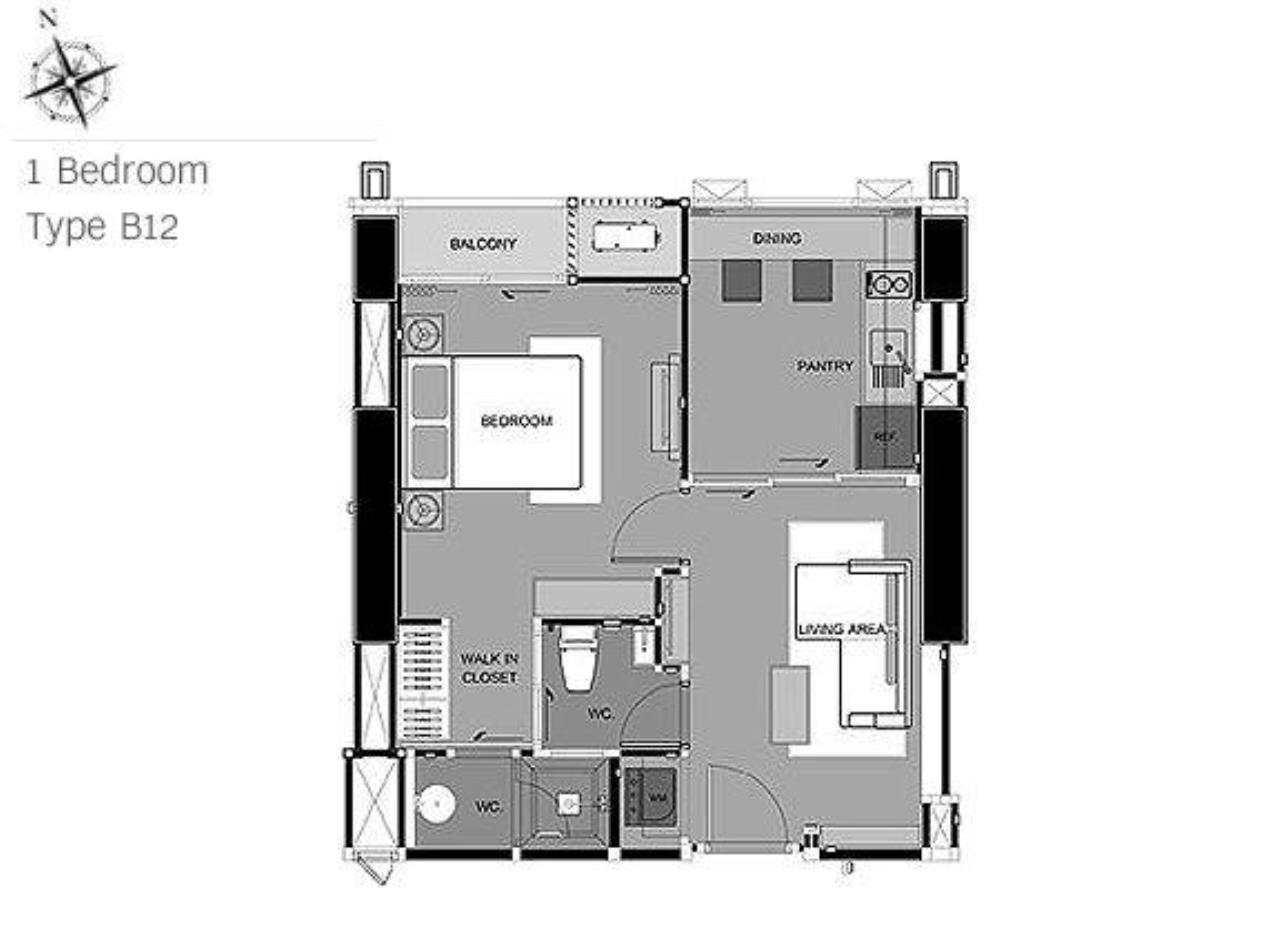 Shambhala Realty Agency's Rhythm Phahon-Ari Condominium for Rent in Ari 1