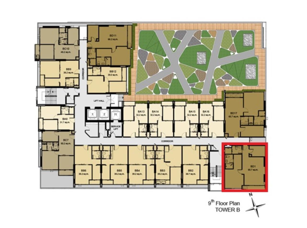 Shambhala Realty Agency's Aspire Rama 9 Condominium Condominium for Rent in Rama 9 3