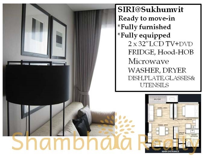Shambhala Realty Agency's One BR Condo Siri at Sukhumvit 38 1