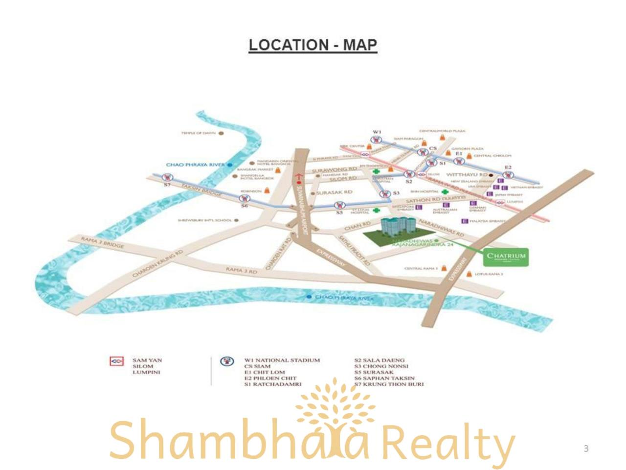 Shambhala Realty Agency's Chatrium Residence  Condominium for Rent in Sathorn 12
