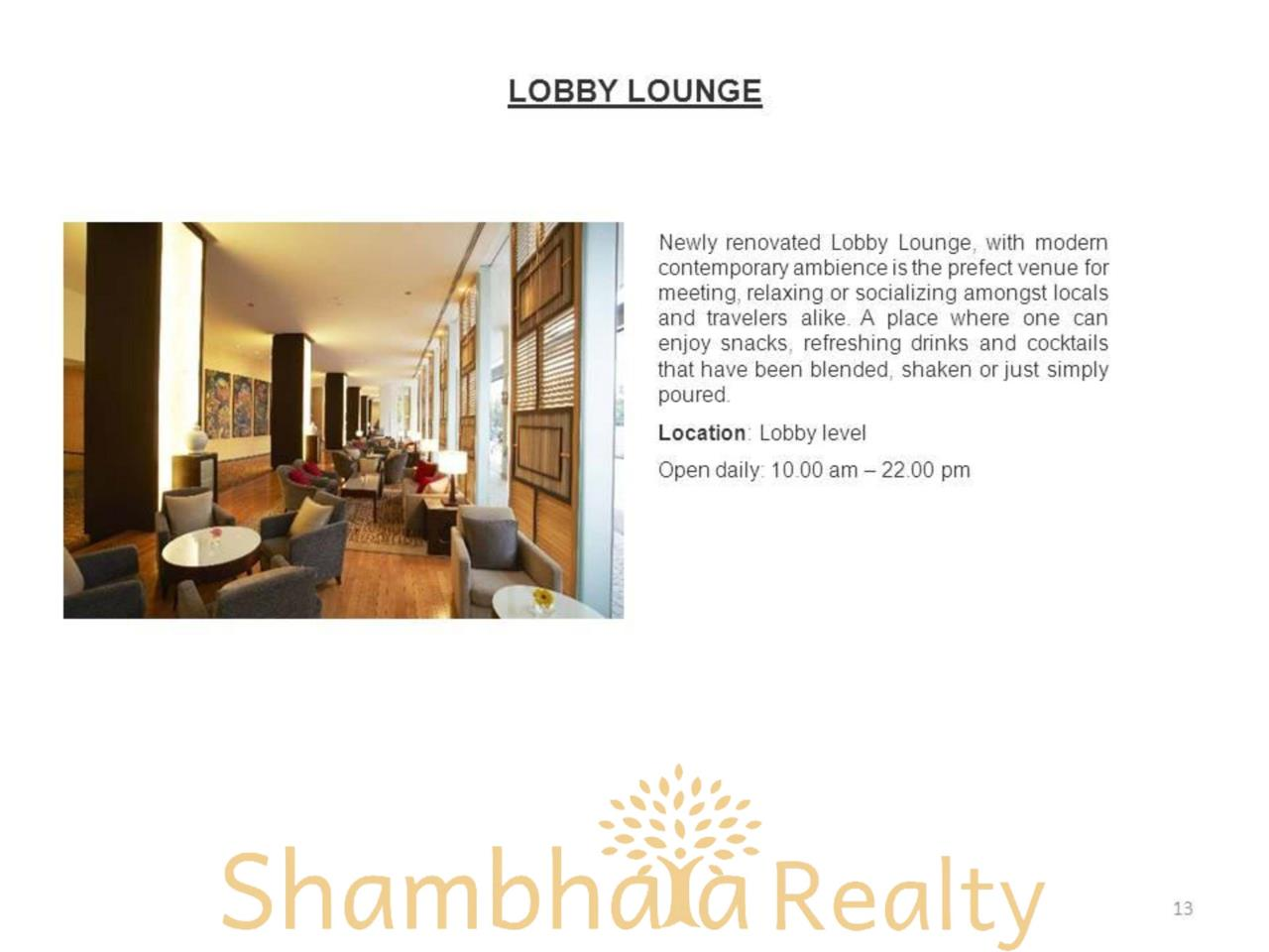 Shambhala Realty Agency's Chatrium Residence  Condominium for Rent in Sathorn 10