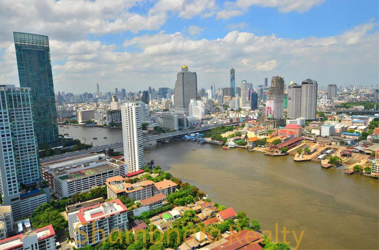 Shambhala Realty Agency's Saichol Mansion Penthouse 360° Panoramic View of the Chao Praya River Condominium for Sale/Rent 15