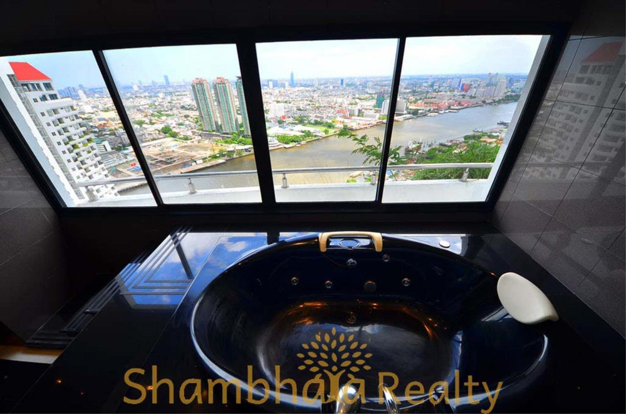 Shambhala Realty Agency's Saichol Mansion Penthouse 360° Panoramic View of the Chao Praya River Condominium for Sale/Rent 24