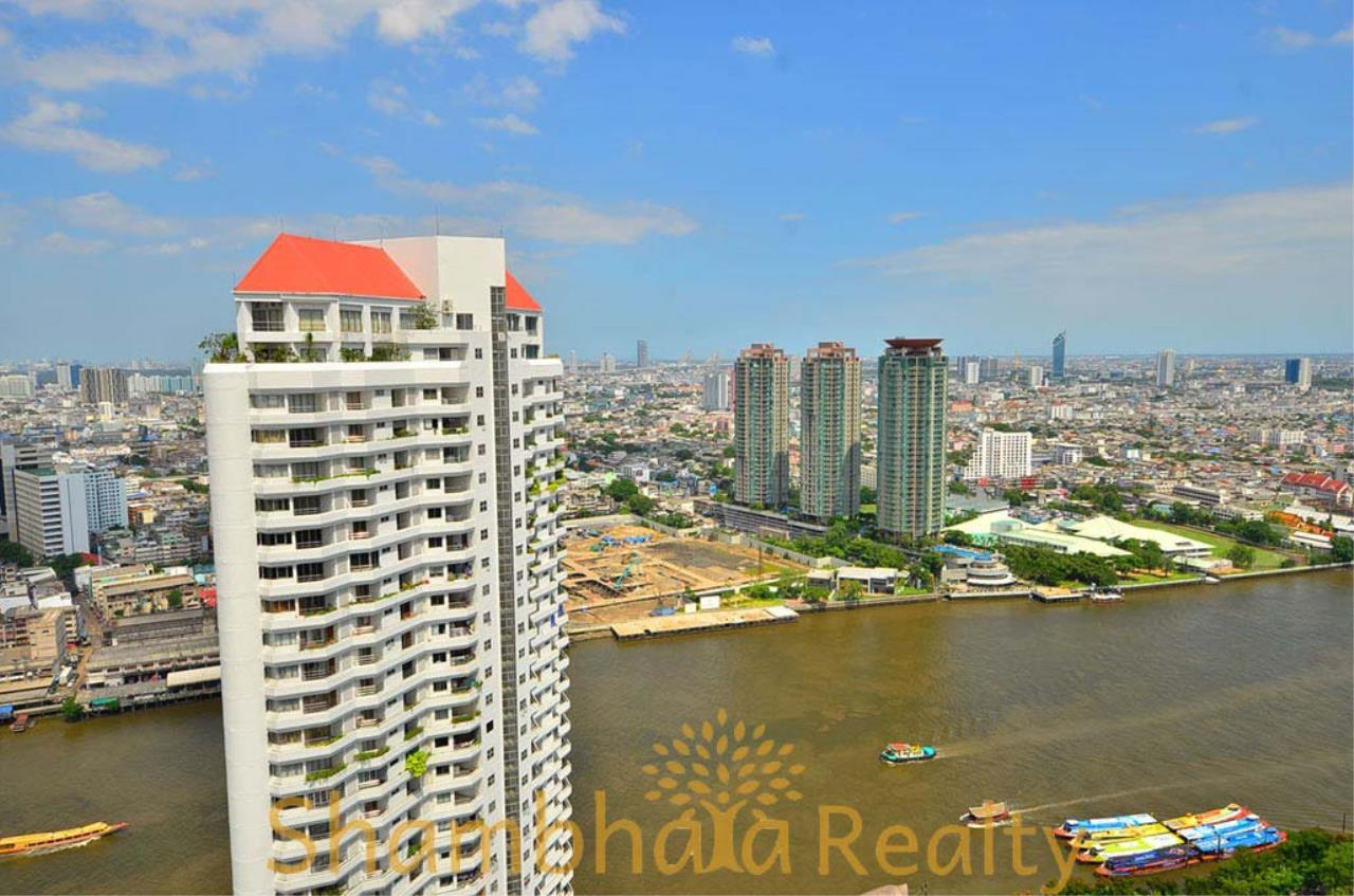 Shambhala Realty Agency's Saichol Mansion Penthouse 360° Panoramic View of the Chao Praya River Condominium for Sale/Rent 23