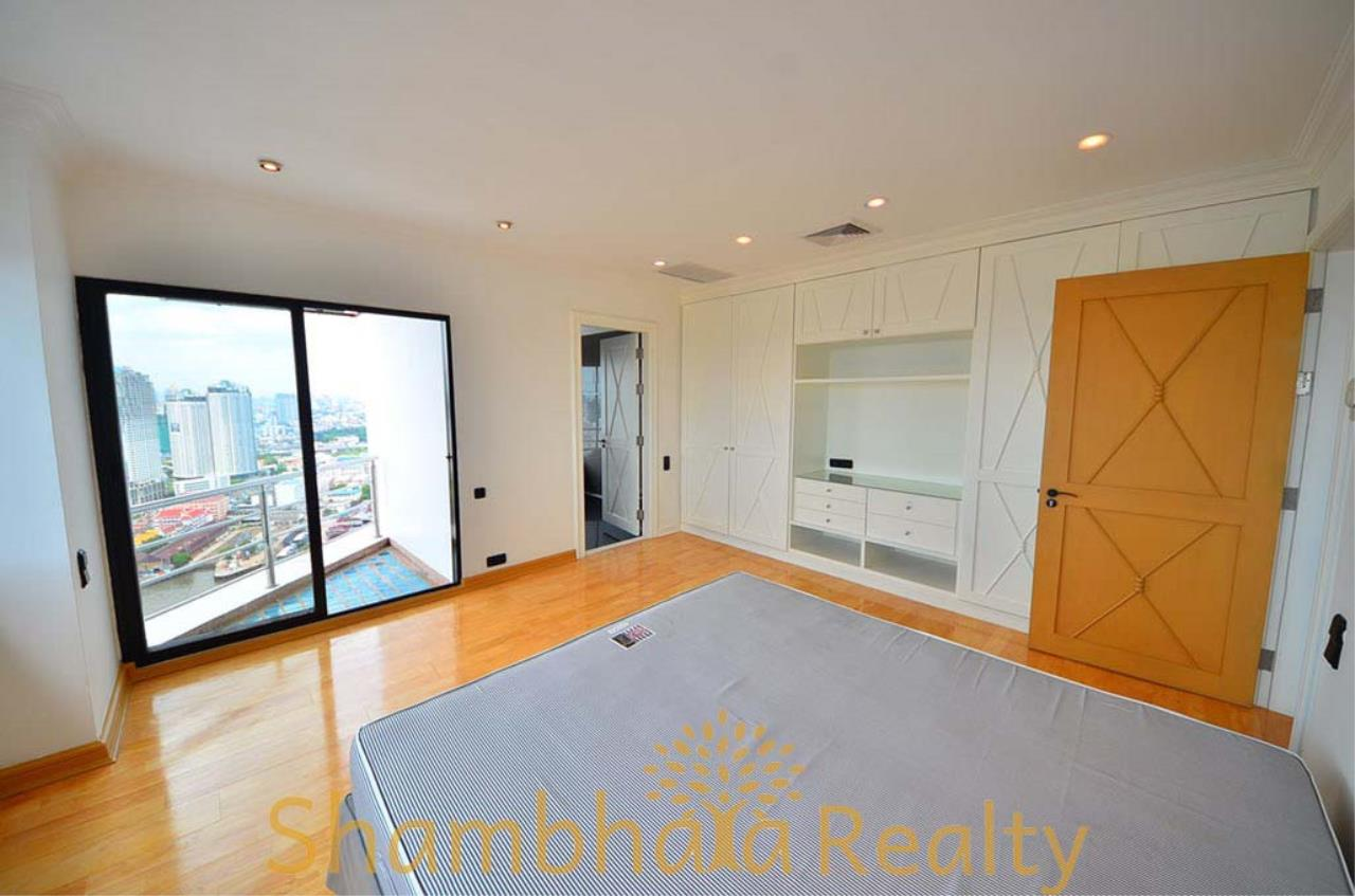 Shambhala Realty Agency's Saichol Mansion Penthouse 360° Panoramic View of the Chao Praya River Condominium for Sale/Rent 9