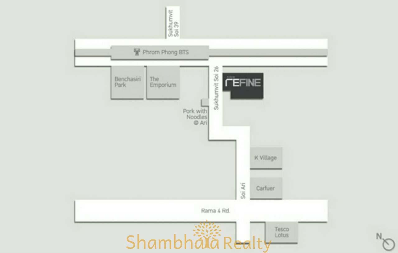 Shambhala Realty Agency's Noble Refine Condominium for Rent in Sukhumvit 26 11