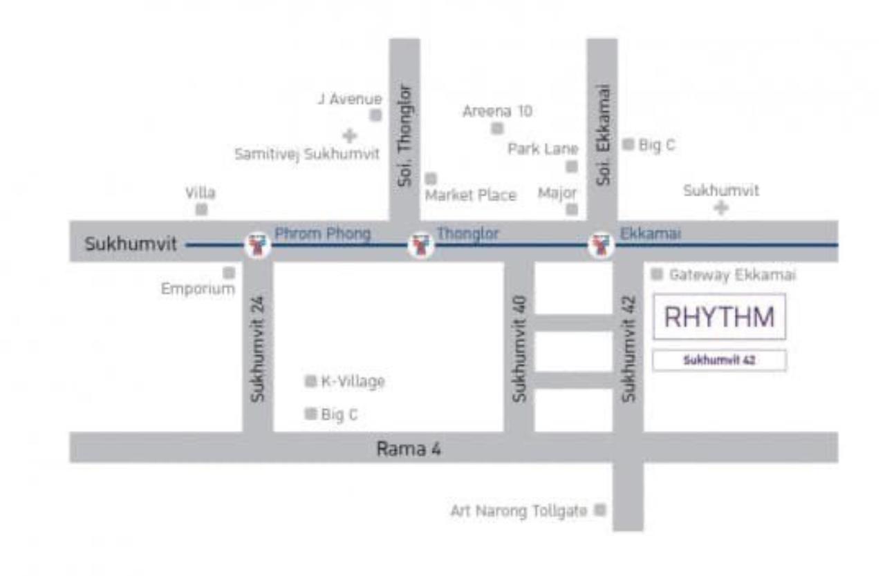 Agent - Phapayawarin Agency's For Rent***Rhythm Sukhumvit 42, 48 sq.m,1 bedroom 1 bathroom, BTS Ekamai 14