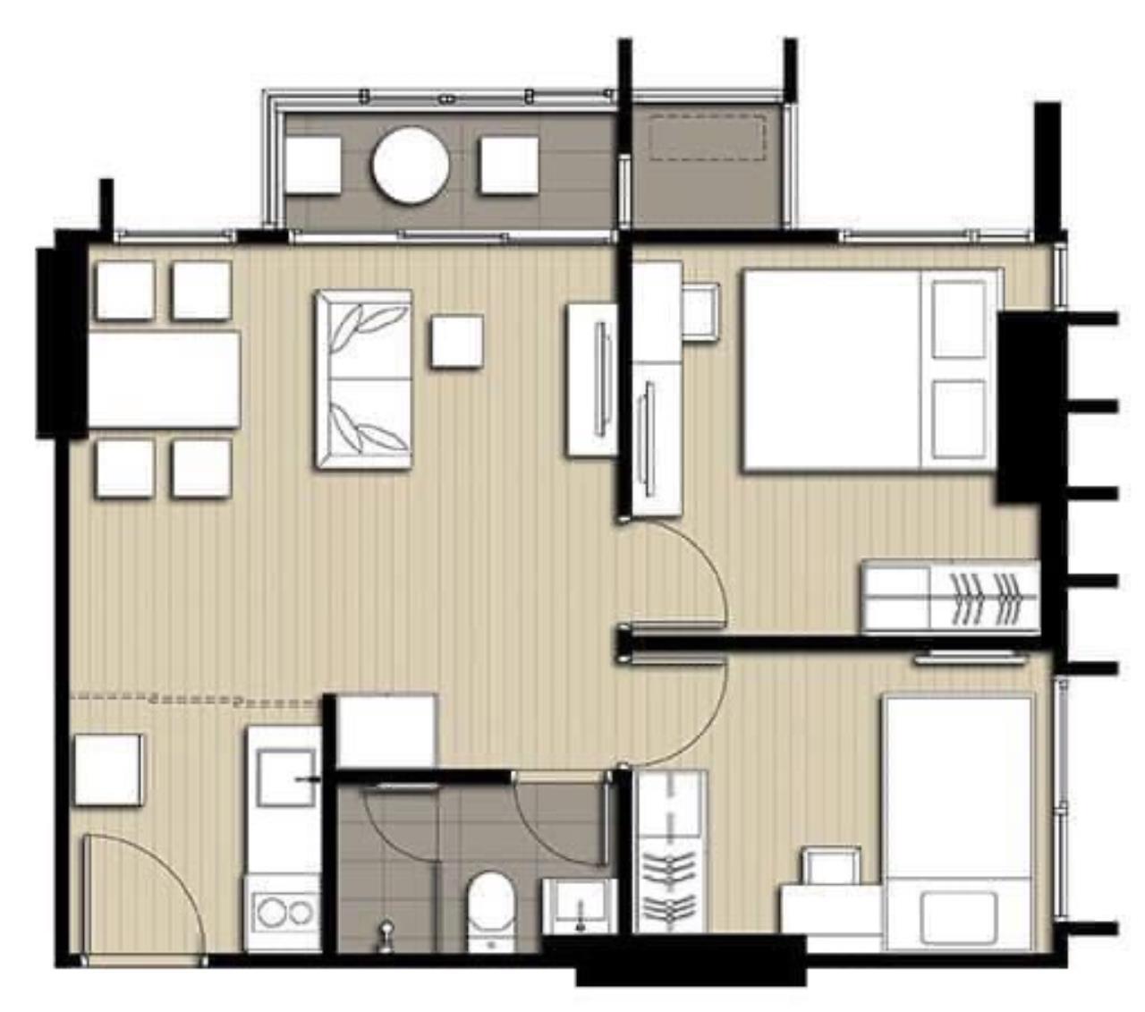 Agent - Phapayawarin Agency's Ideo Q Chula-Samyan for Sale, 2 Bedrooms 1 Bathroom, 50 Sq.m., MRT Sam Yan 10