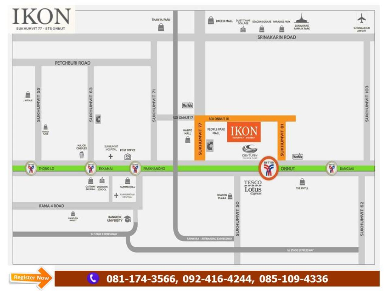Chanainat Keawtong Agency's Hot Deal!! IKON Sukhumvit 77 Near BTS Onnut with SET Business Start Price 1.9 m 6