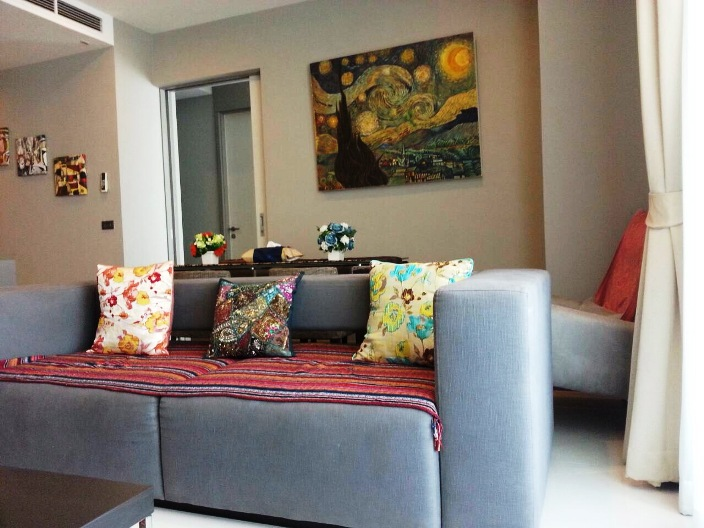 RE/MAX All Star Realty Agency's Luxury large 84sqm new tw-bed condo for rent at M Silom 4