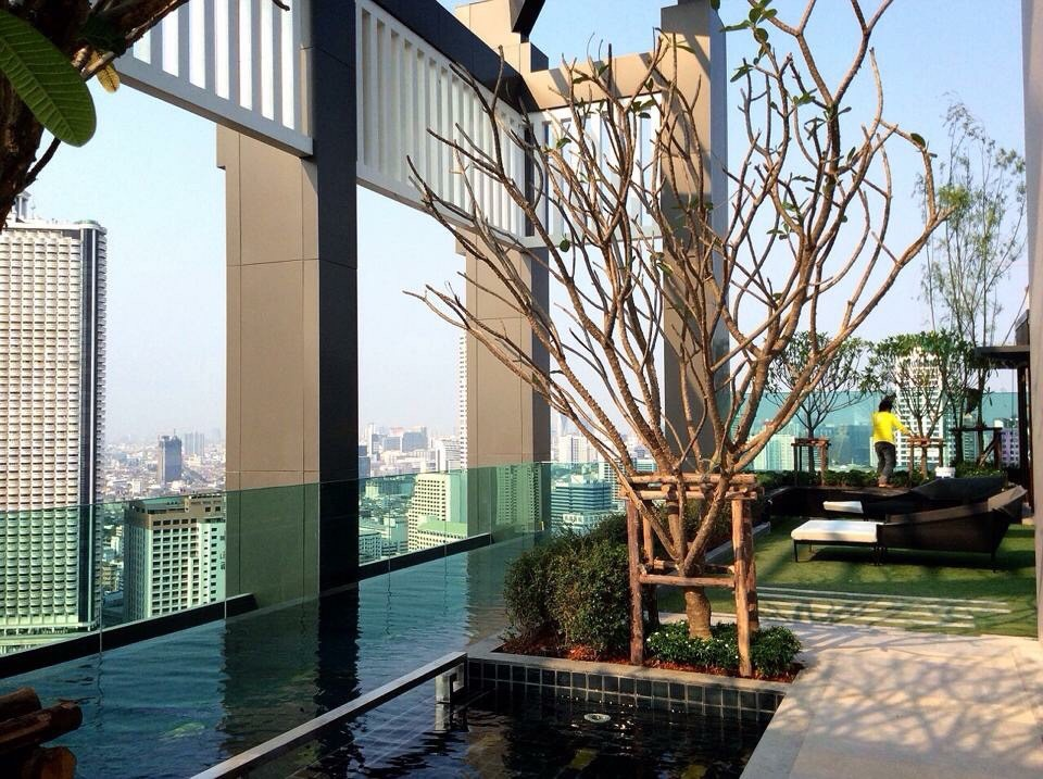 RE/MAX All Star Realty Agency's Charming river view, large one-bed condo Rhythm  Sathorn 21 highest floors rent 30k (neg) 15