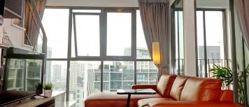 RE/MAX All Star Realty Agency's Beautiful Ideo Mobi Sukhumvit 81 Penthouse Duplex for sale rent 3
