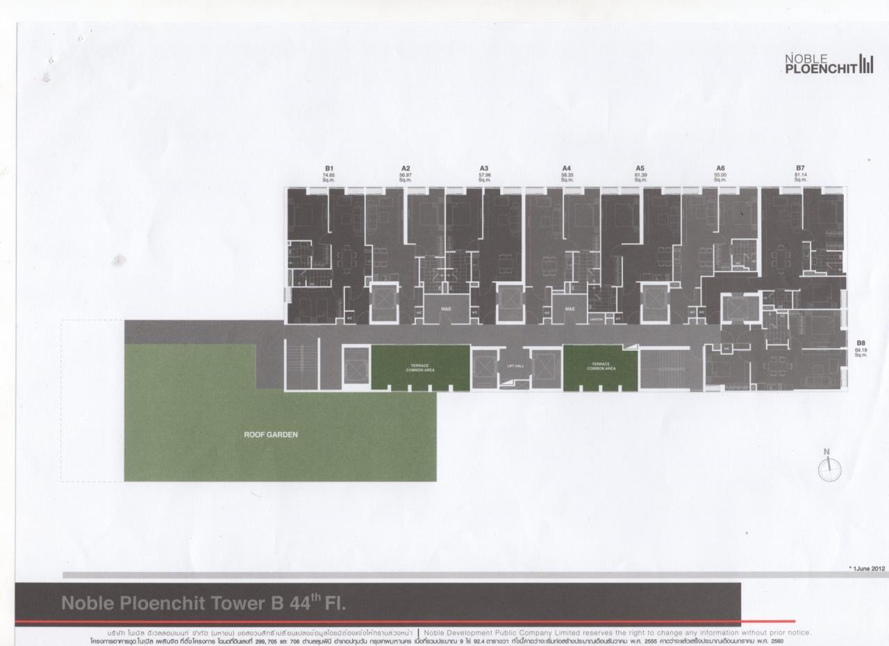 Piri Property Agency's 2 bedrooms Condominiumon 40tower B floor For Sale 2