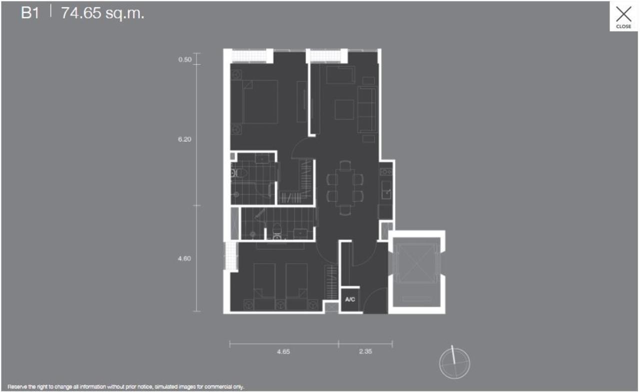 Piri Property Agency's 2 bedrooms Condominiumon 40tower B floor For Sale 1