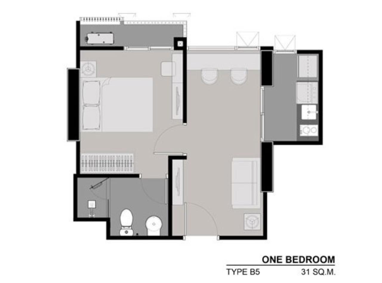 Piri Property Agency's Cozy 1 Bedroom in the Rhythm Asoke 1 Condo for sale on high floor 8