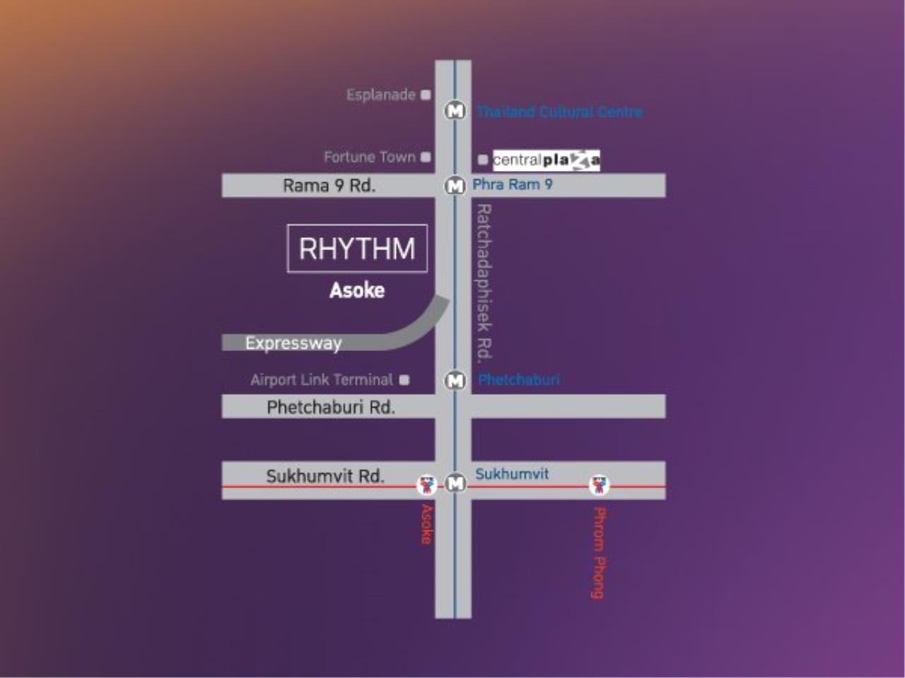 Piri Property Agency's Cozy 1 Bedroom in the Rhythm Asoke 1 Condo for sale on high floor 9