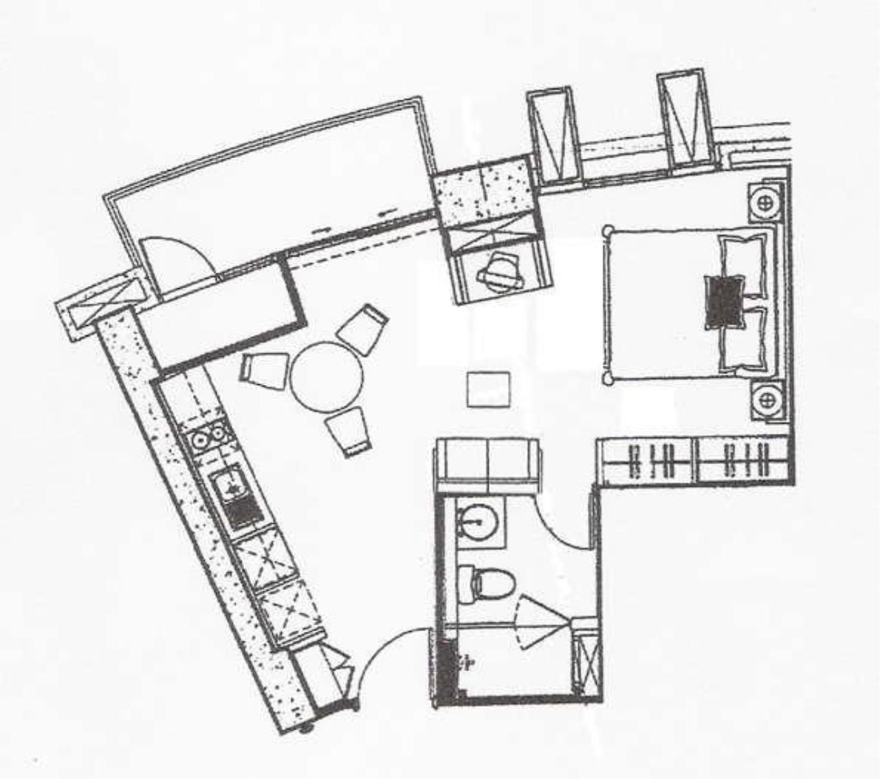 Piri Property Agency's Studio bedrooms  For Rent Urbana Langsuan 4