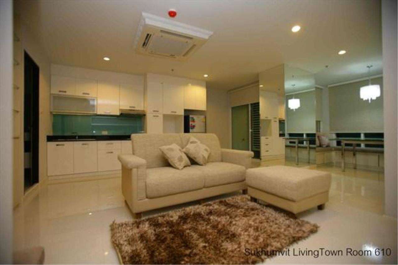 Piri Property Agency's 2 bedrooms  For Rent Sukhumvit Living Town 1