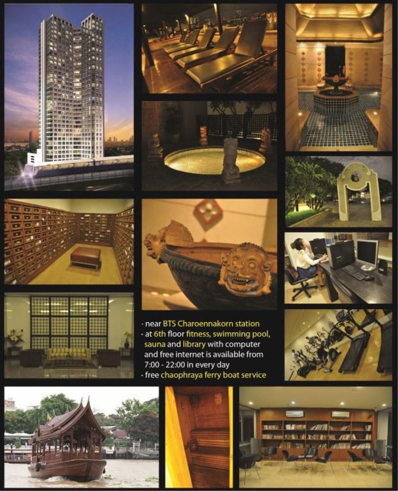 Piri Property Agency's one bedroom  For Rent Baan Sathorn Chaophraya 1