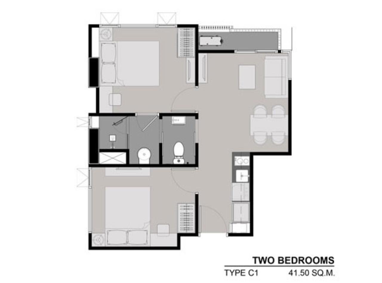 Piri Property Agency's 2 bedrooms Condominium  on 10 floor For Sale 2 9