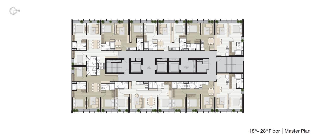 Piri Property Agency's 2 bedrooms Condominium  on 22 floor For Sale 2 6