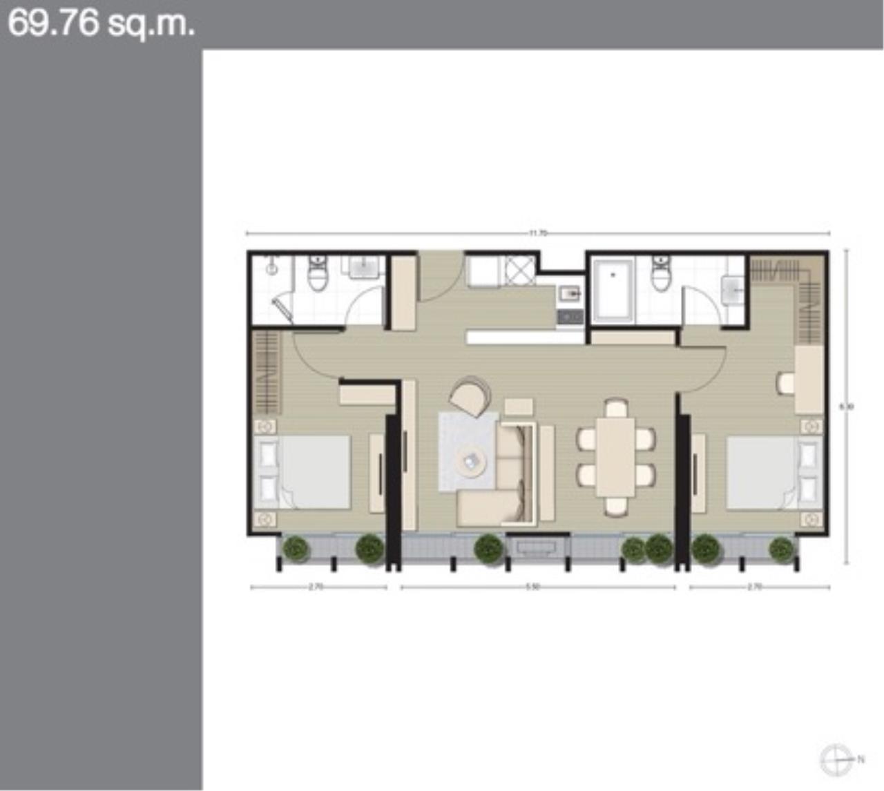 Piri Property Agency's 2 bedrooms Condominium  on 22 floor For Sale 2 7