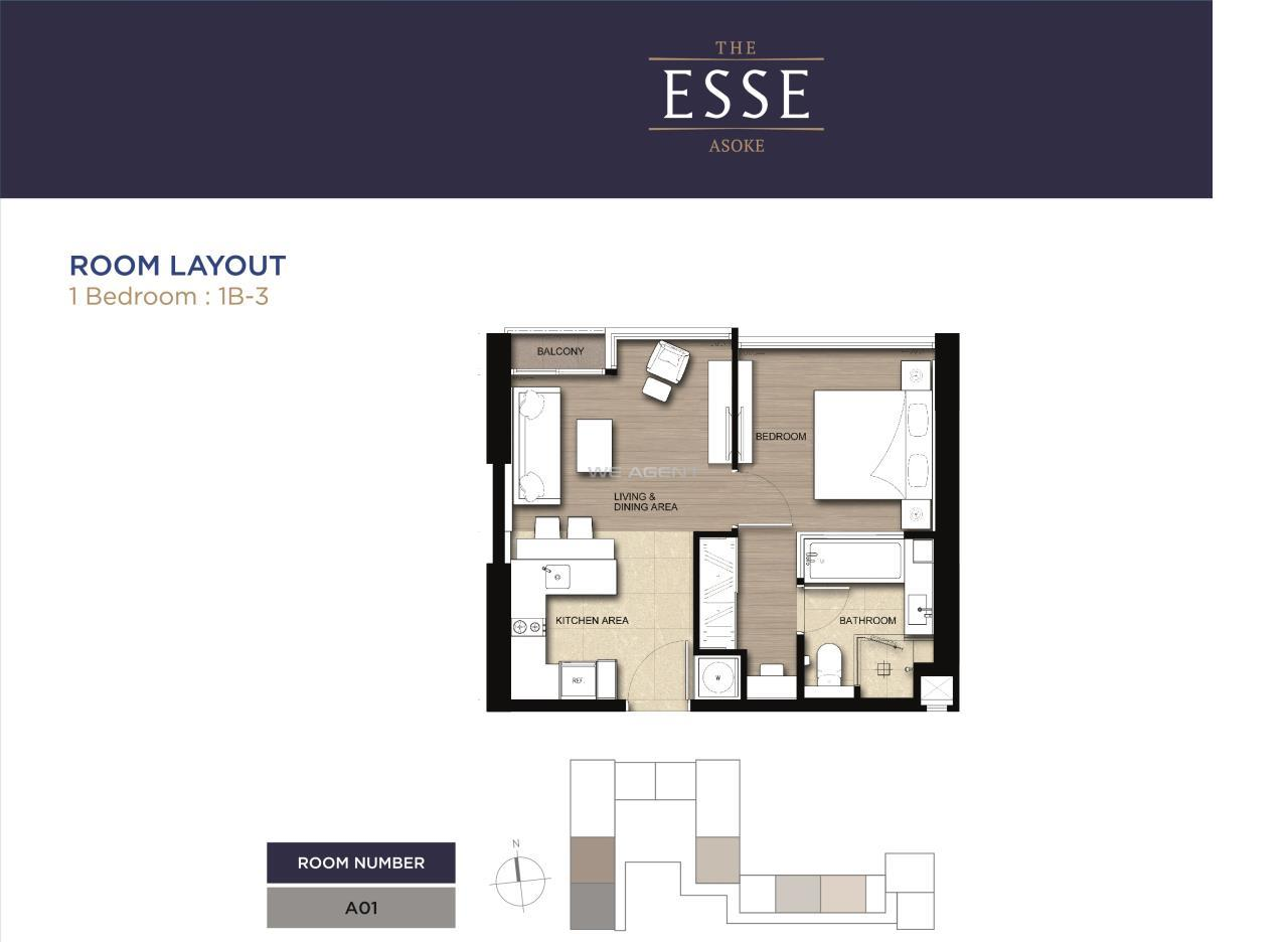 We Agent Agency's The Esse Asoke - 9.99MB -  46.25 sqm. 3