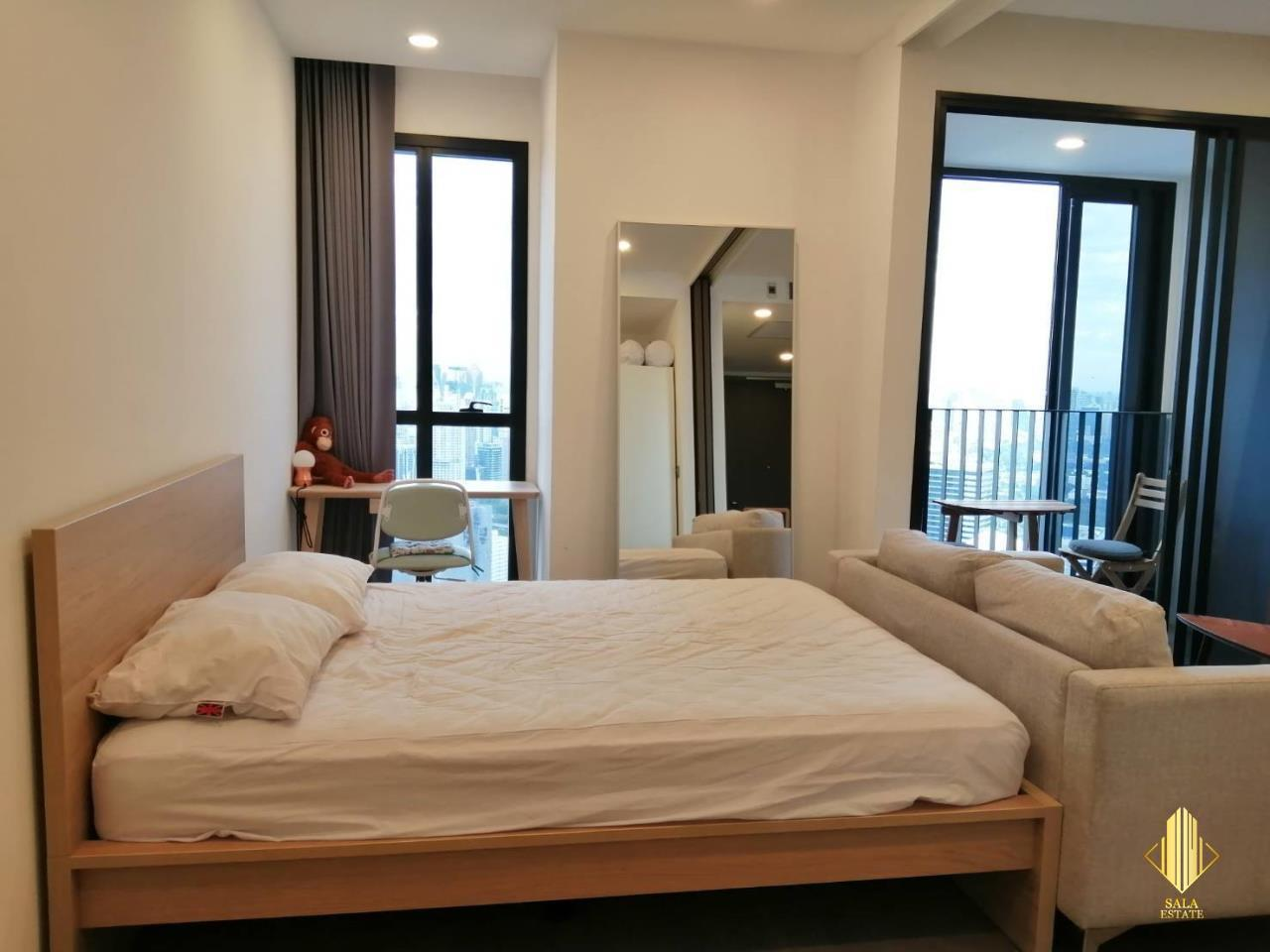 SALA ESTATE Agency's ( FOR RENT ) ASHTON CHULA SILOM – MRT SAMYAN, 40 SQM 1 BEDROOM 1 BEDROOM, FULLY FURNISHED, HIGH FLOOR 5
