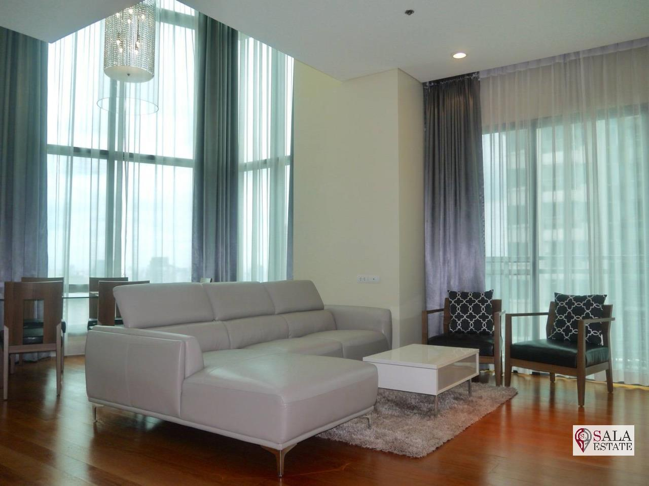 SALA ESTATE Agency's (FOR RENT) BRIGHT SUKHUMVIT 24 - BTS PHROM PHONG, DUPLEX TYPE,3 BEDROOMS 3 BATHROOMS, FULLY FURNISHED,CITY VIEW,HIGH FLOOR 4