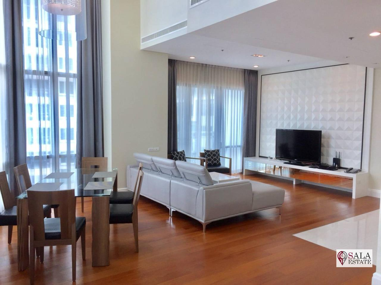 SALA ESTATE Agency's (FOR RENT) BRIGHT SUKHUMVIT 24 - BTS PHROM PHONG, DUPLEX TYPE,3 BEDROOMS 3 BATHROOMS, FULLY FURNISHED,CITY VIEW,HIGH FLOOR 6