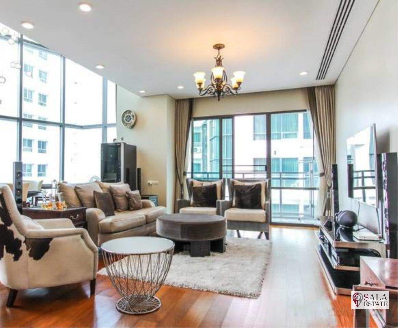 SALA ESTATE Agency's (FOR RENT) BRIGHT SUKHUMVIT 24 - BTS PHROM PHONG, DUPLEX TYPE,3 BEDROOMS 3 BATHROOMS, FULLY FURNISHED,CITY VIEW,HIGH FLOOR 1