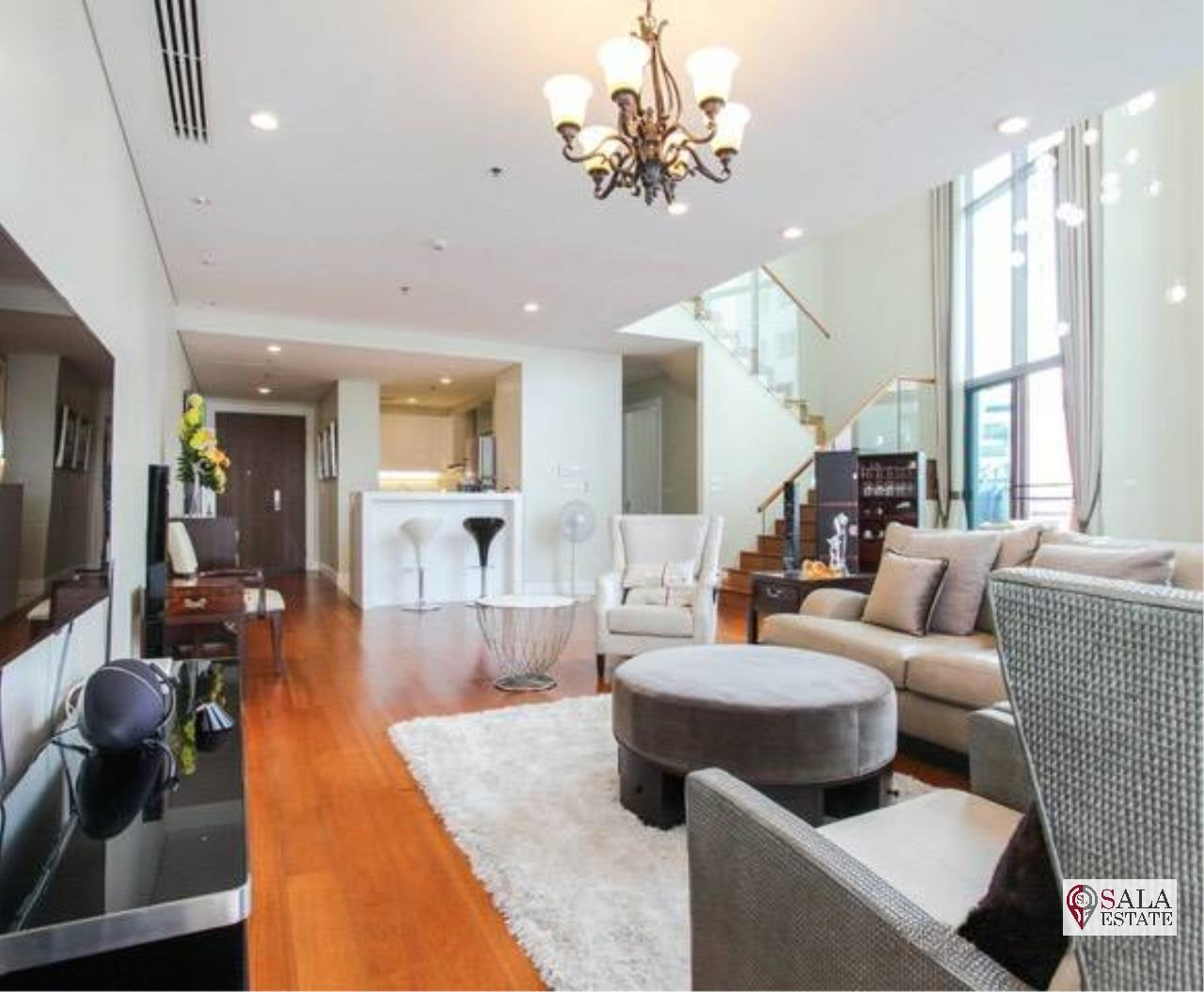 SALA ESTATE Agency's (FOR RENT) BRIGHT SUKHUMVIT 24 - BTS PHROM PHONG, DUPLEX TYPE,3 BEDROOMS 3 BATHROOMS, FULLY FURNISHED,CITY VIEW,HIGH FLOOR 2