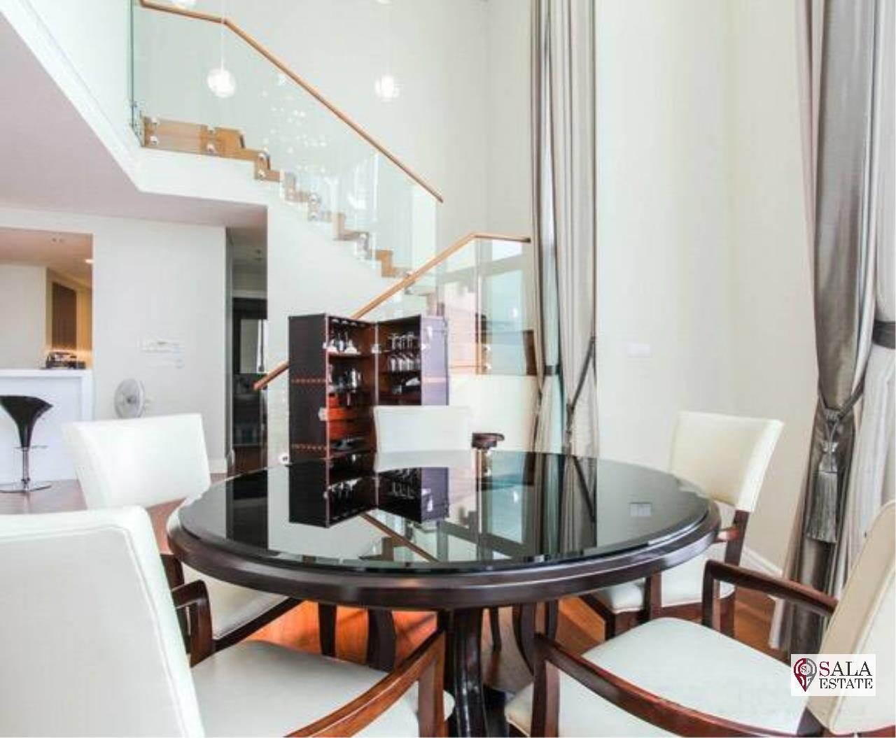 SALA ESTATE Agency's (FOR RENT) BRIGHT SUKHUMVIT 24 - BTS PHROM PHONG, DUPLEX TYPE,3 BEDROOMS 3 BATHROOMS, FULLY FURNISHED,CITY VIEW,HIGH FLOOR 3