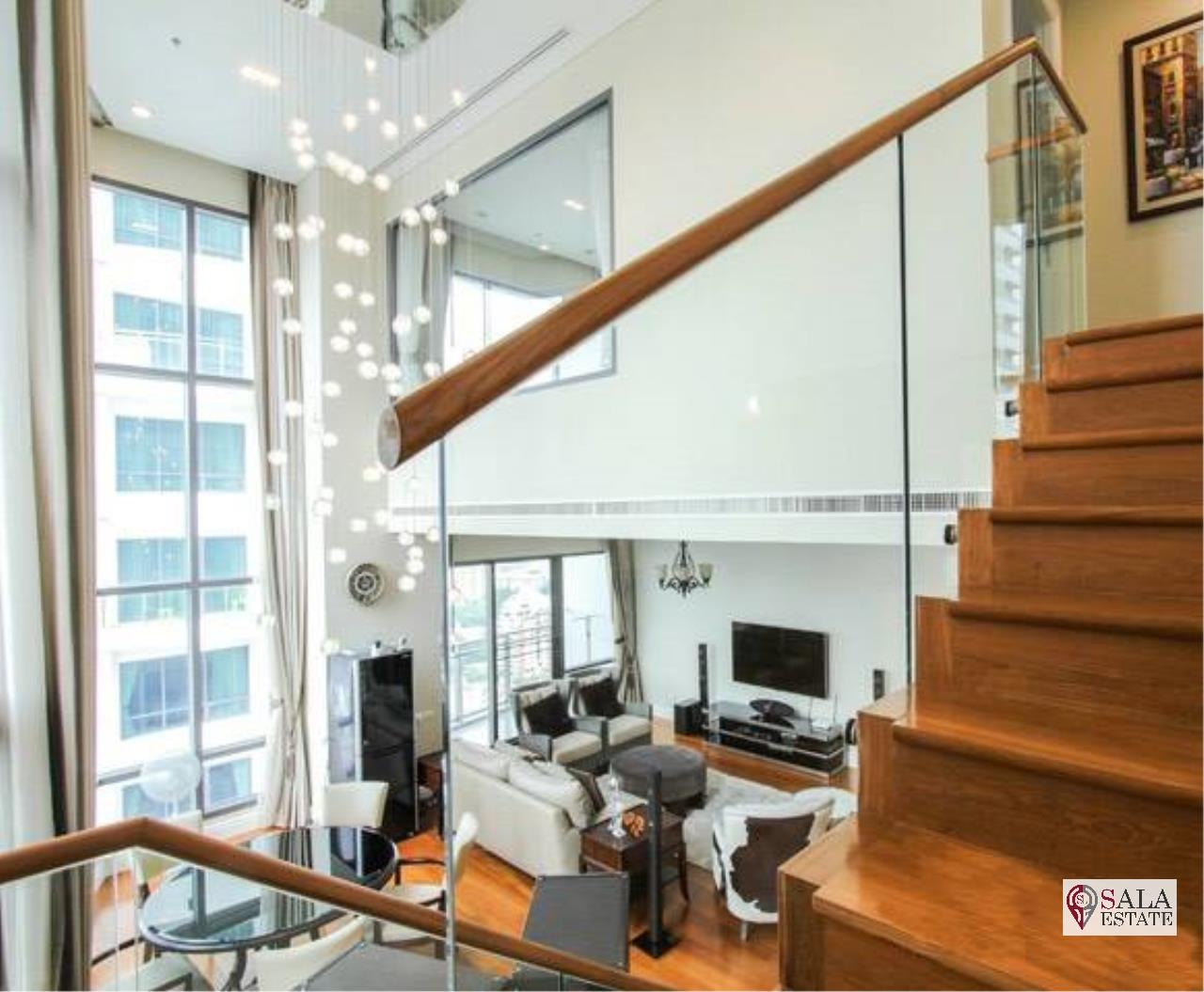 SALA ESTATE Agency's (FOR RENT) BRIGHT SUKHUMVIT 24 - BTS PHROM PHONG, DUPLEX TYPE,3 BEDROOMS 3 BATHROOMS, FULLY FURNISHED,CITY VIEW,HIGH FLOOR 5